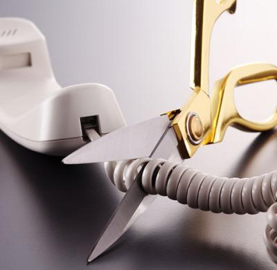 cutting the phone cord