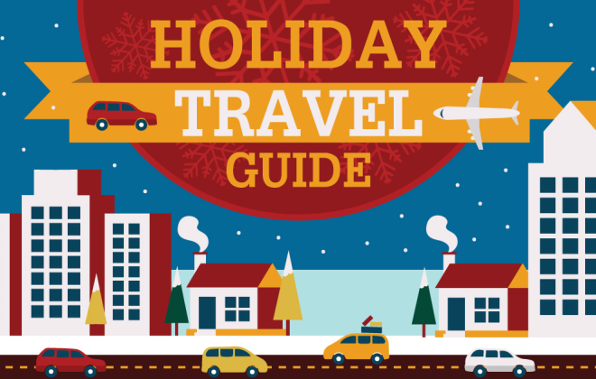 Holiday Travel Guide infographic from magicJack