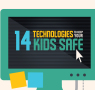 Child's safety tips infographic from magicJack