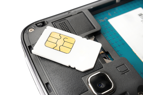 sim card with phone